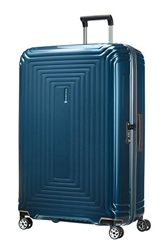 Samsonite Neopulse Spinner XL Valigia, 81 cm, 124 L, Blu (Metallic Blue)
