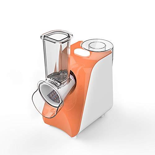 Cortador De Verduras Eléctrico Multifuncional Completamente Automático para El Hogar, Pequeñas Papas Fritas, Trituradora De Rábano, Rallador, Máquina De Ensalada,Naranja