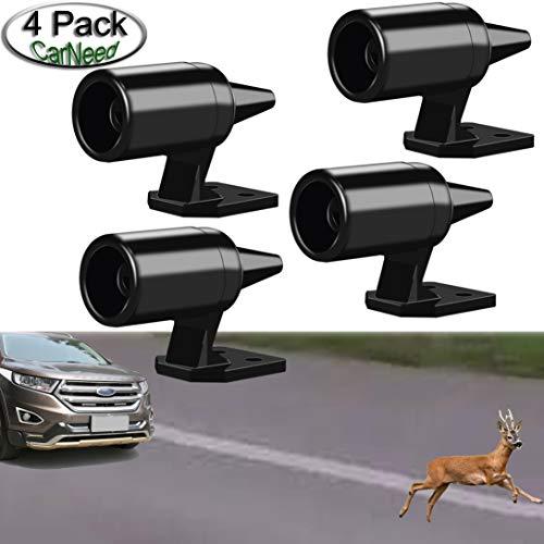 CarNeed 4 Pcs Deer Alert for Vehicles, Avoids Deer Collisions Car Deer Warning, Black...