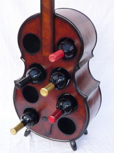 DanDiBo Flaschenhalter Cello Weinregal 102cm Flaschenregal Flaschenständer aus Holz