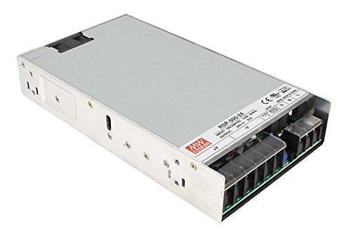 Fuente Meanwell RSP-500–24500W 24V 21A Transformador de AC 220V a DC 24V para luces led interno con ventilador