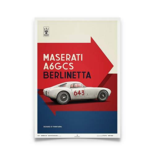 Automobilist | Maserati A6Gcs Berlinetta 1954 - Bianco | Standard Formato Poster