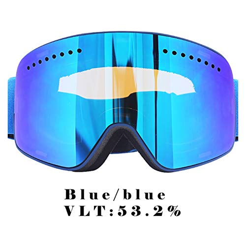 Exterior Gafas de esquí, Deportes de Nieve de Invierno, Gafas de Snowboard, Anti-Niebla, Anti-Ultravioleta, Snow Ski Ski Goggles para Hombres, Mujeres y jóvenes (Color : Blue, Eyewear Size : Other)