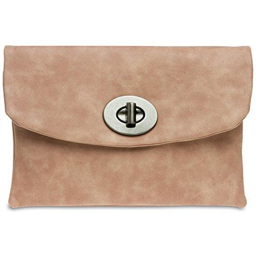 Caspar TA339 Damen Envelope Clutch, Farbe:altrosa