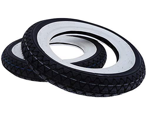 2EXTREME 2X Kenda Weisswand Reifen 3,50x10 51J 4PR Satz Keeway Retro China Roller