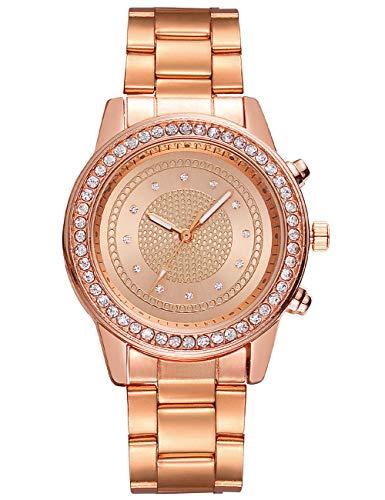 Reloj para Mujer Reloj de Diamantes para Mujer Relojes Impermeables de Acero Inoxidable para Mujer Reloj de Pulsera analógico para Vestido Elegante