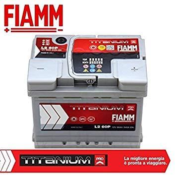 Fiamm, batteria per auto Titanium L260, 60 Ah, 540 A, polo positivo a destra