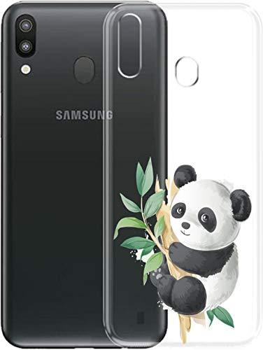Simar Products - Cover in silicone trasparente per Samsung Galaxy A20E (Panda)