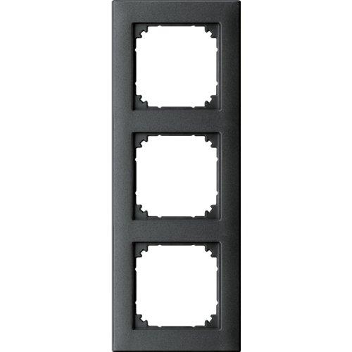 Merten 488314 M-PLAN II-Rahmen, 3fach, bündiger Einbau, anthrazit