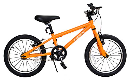 Aceger Kids Bike for Boys and Girls, 14 inch with Training Wheels, DIY Frame (Orange, 14 inch)