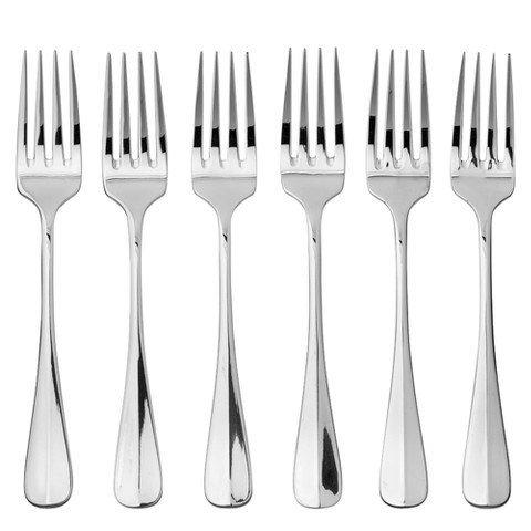 Oneida Savor Everyday Flatware Dinner Forks, Set of 6 18/0 Stainless Steel, Silverware Set