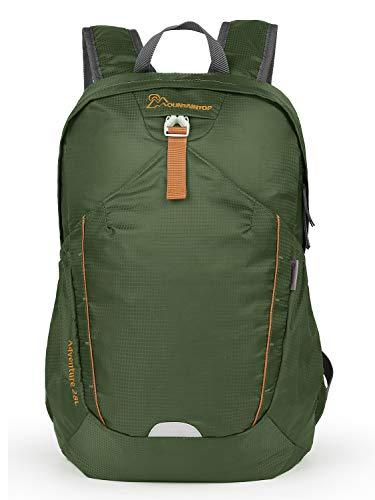 MOUNTAINTOP 28L Faltbare Rucksäcke Wanderrucksack, Leichte Packable Reiserucksack, Wasserdicht Wandern Tagesrucksack für Damen Herren, Armeegrün