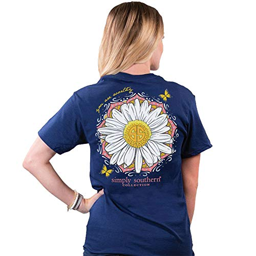Simply Southern Women's Worthy T-Shirt Midnight