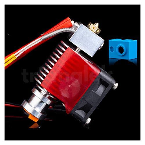 WBCMWH V6 HOOTEND 12V / 24V Remote Impresión J Cabeza y Soporte de Ventilador de refrigeración para E3D de PT100 (Size : 1.75 24V All Metal)