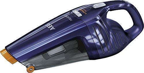 AEG Rapido AG 6114B Akkusauger (beutellos, inkl. Zubehör, bis zu 27 min Laufzeit, ausziehbare Fugendüse, Doppelfilterung, 2 Leistungsstufen, oberflächenschonende Fronträder, 500ml Staubbehälter) blau