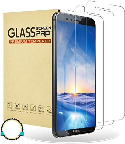 RIIMUHIR Panzerglasfolie für Huawei Honor 7X Panzerglas Bildschirmschutzfolie,[3 stück] 9H Festigkeit Anti-Sturz, Anti-Öl, Anti-Kratzen, Keine Blasen, HD Schutzfolie für Huawei Honor 7X