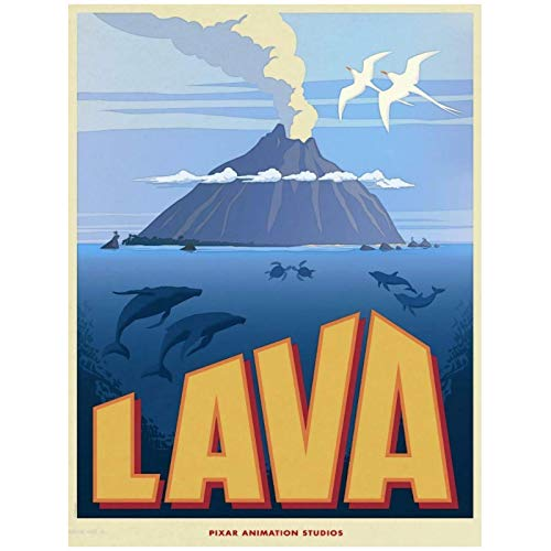 Wandbild Lava Pixar Film Kunstdruckplakat Home Wanddekoration Leinwandmalerei-20X28In No Frame