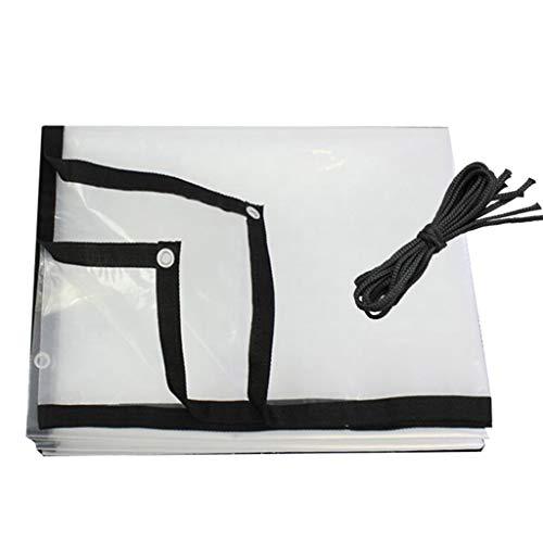 QI-CHE-YI Transparent tarpaulin, waterproof plastic tarpaulin with holes, transparent tarpaulin for plant crop sheds in inclement weather,4x8m