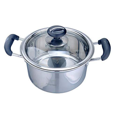 ZLJ Pentola per brodo pentola per zuppa in Acciaio Inossidabile 201 per Uso Domestico (18 20 22 24 cm) per (1-7 Persone) per fornello a Gas fornello a induzione Pentola per Magazzino (di