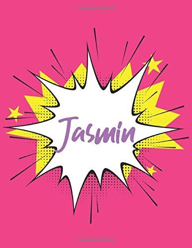 Jasmin: Sketch Book, Skizzenbuch für Jasmin, Skizzenbuch, blanko buch weiß, Skizzenblock , 120 Seiten, 8.5x11 Geschenk für Jasmin