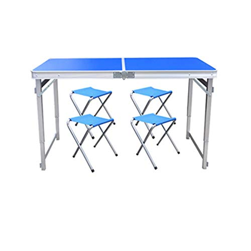 None/Brand Outdoor Folding Table Chair Height Adjustable Camping Aluminium Alloy Picnic Table Waterproof Durable Folding Table Desk For