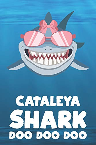 Cataleya - Shark Doo Doo Doo: Blank Ruled Personalized & Customized Name Shark Notebook Journal for Girls & Women. Funny Sharks Desk Accessories Item ... Birthday & Christmas Gift for Women.