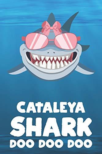 Cataleya - Shark Doo Doo Doo: Blank Ruled Personalized & Customized Name Shark Notebook Journal for Girls & Women. Funny Sharks Desk Accessories Item ... Birthday & Christmas Gift for Women.