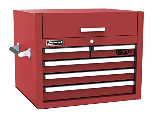 """Homak PRO II Series 27"""" 5-Drawer Top Chest, Red, RD02027052"""