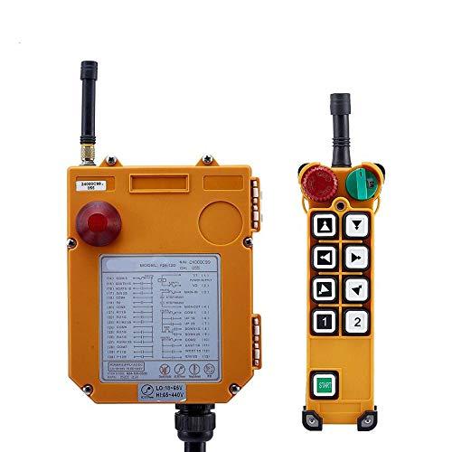 TELECRANE Mando a distancia industrial inalámbrico de doble velocidad polipasto eléctrico, 1...