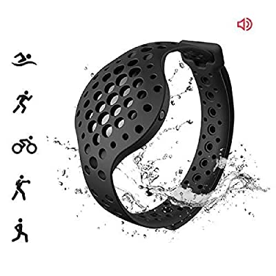 3D Fitness Tracker & Real Time Audio Coach, Moov Now:Swimming Running Water Resistant Activity Calories Tracker with Sleep Monitor, Bluetooth Smart Wristband for Android and iOS, Stealth Black