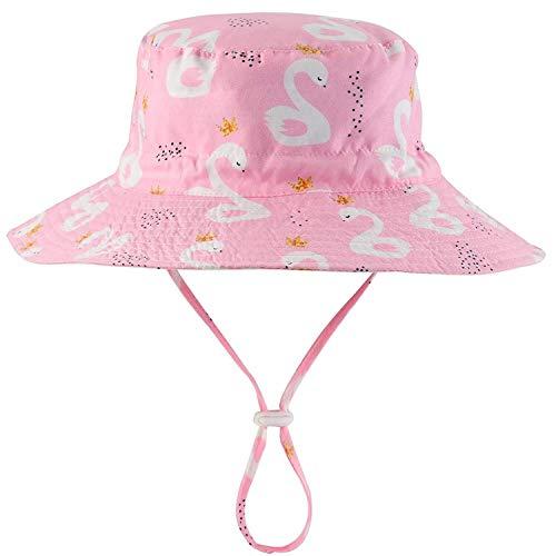 Cassiecy Baby Sonnenhut Unisex Kinder Outdoor Atmungsaktiver UV-Schutz Mädchen Jungen Strand Mützen Sommermütze (20.5