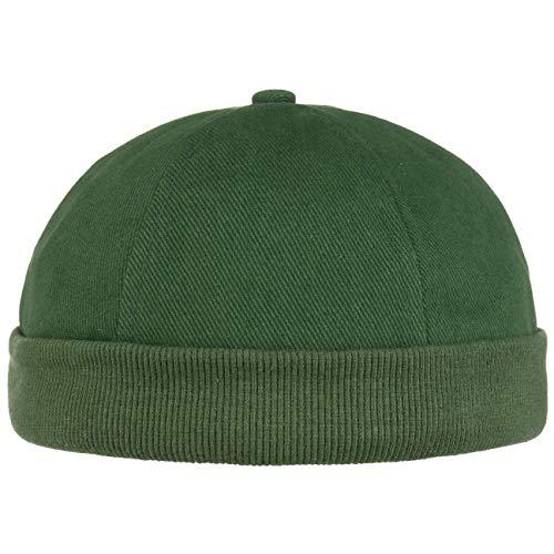 Lipodo Cotton Dockercap Herren   Mütze aus 100% Baumwolle   Docker in Einheitsgröße (54-61 cm)   Cap mit Klettverschluss   Hafenmütze in dunkelgrün   ganzjährig tragbar