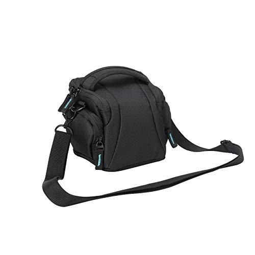 Bodyguard Easy System L-Bolsa Negro para Sistema Cámara como Sistema cámara Funda para Cámara Bridge y P. ej. Nikon Coolpix L330L340L840B500