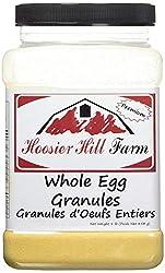 small Hoosier Hill Farm Whole Egg Granules, All Natural, 100% Real Eggs, 1 lb.