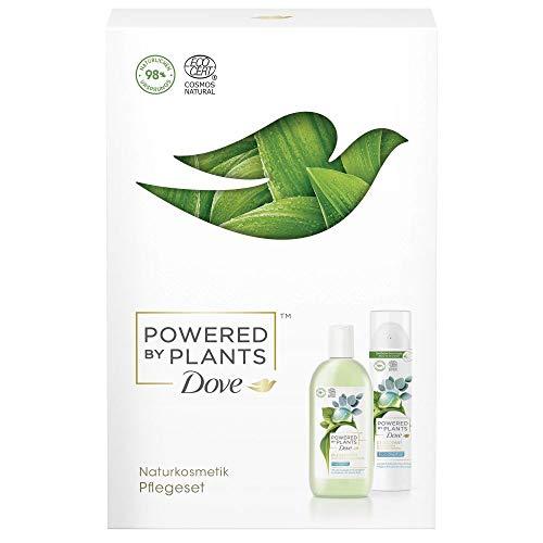 Dove Powered by Plants Geschenkset Eucalyptus für ein erfrischendes Hautpflegeerlebnis mit Duschgel und Deodorant (250 ml + 75 ml)