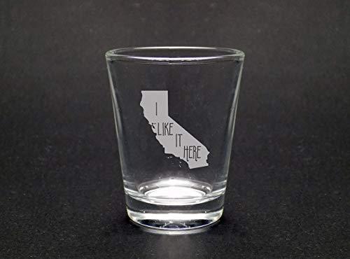 California I Like It Here Shot Glass