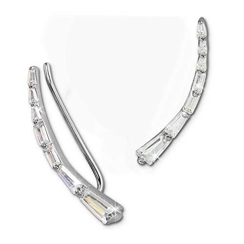 SilberDream Ear Cuff längliche Zirkonias Damen-Ohrring Ohrklemme 925 Silber Silberschmuck GSO457W