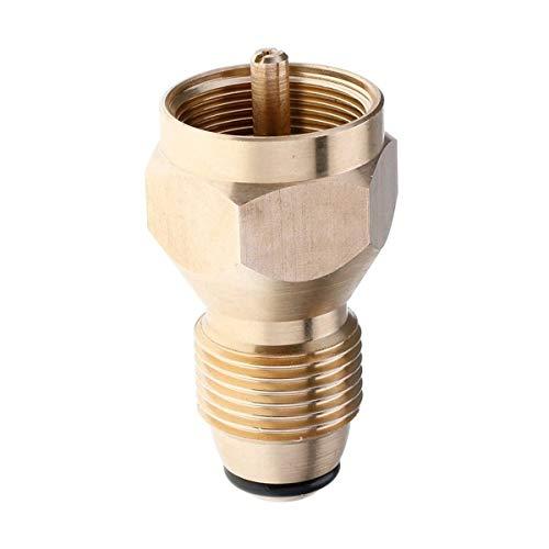 Greatangle Adaptador Universal de Repuesto de propano de Seguridad para Cilindro de 1 LB Acoplador de Tanque Acoplador Botella calefactora Accesorio de válvula reguladora de latón sólido