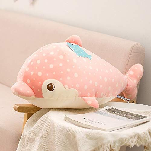 N / A Pink Blue Dolphin Plush shark whale Pillow Stuffed Sea World Animals Sea doll toys seal Decor Cushion for baby child girl gift 60cm