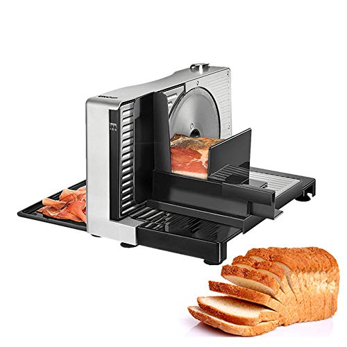 JDH Semi Automatic Meat Slicer, Home Electric Foldable Meat Planer Mutton Rolls Meats Grinder Machine, for Fruit Vegetable Cheese Bread