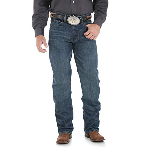 Wrangler mens 20x 01 Competition Relaxed Fit jeans, River Wash, 36W x 34L US New Jersey