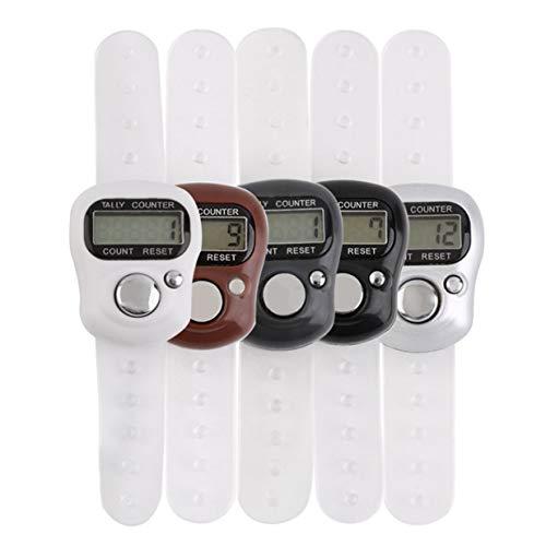 Timetided Mini portátil de 5 dígitos LCD electrónico Digital Golf Deportes Universal Dedo Anillo de Mano Contador de Cuentas