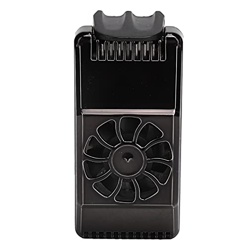 Annadue Ventilador de refrigeración del radiador del teléfono, Radiador portátil del teléfono móvil, Accesorio del teléfono de refrigeración por disipación de Calor, Radiador del teléfono (Negro)