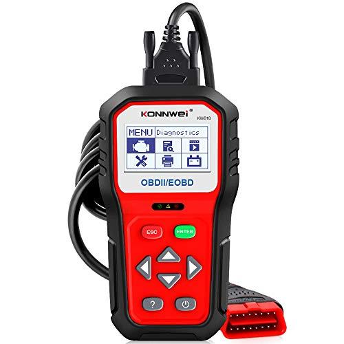 CARACHOME OBD2 Diagnosegerät, 12-V-Batterietester-Motor-Autocode-Lesetool mit TFT-Farbdisplay und integriertem Lautsprecher