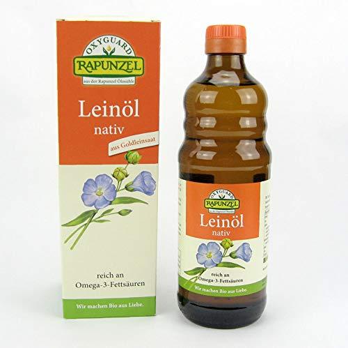 Rapunzel Bio Leinöl nativ aus Goldleinsaat Dreierpack (3 x0,5l)