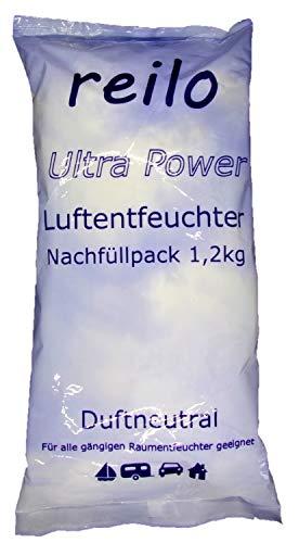12x 1,2kg Ultrapower Luftentfeuchter Granulat (Calciumchlorid) im Vliesbeutel, Nachfüllpack für Raumentfeuchter
