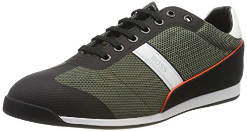 BOSS Herren Glaze_Lowp_mewt Sneaker, Dark Green, 39 EU