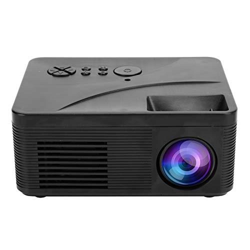 Goshyda Mini proyector, proyector de Cine en casa portátil HD 1080P LED, Sistema de proyección LCD TFT de 2.0 Pulgadas, Sonido HiFi y diseño de Sonido Envolvente de Doble Altavoz(Negro)