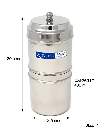 Kitchen Mart Stainless Steel with 5 Cups Capacity Coffee Filter (Silver)