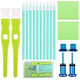ADXCO Phone Cleaning Kit Charging Port Cleaner USB Anti Dust Cover Plug Set Headphone Jack Cleaner Brush Set Compatible with iPhone, iOS Android, Cell Phone, Electronics Cleaner, Blue
